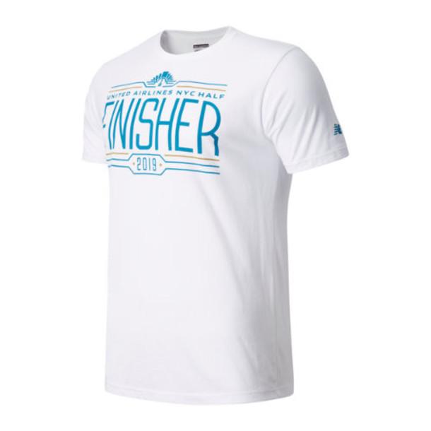 New Balance 91629 Men's United Airlines Half Finisher Short Sleeve - White (MT91629CWT)