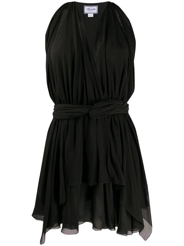 Redemption sleeveless shift mini dress in black