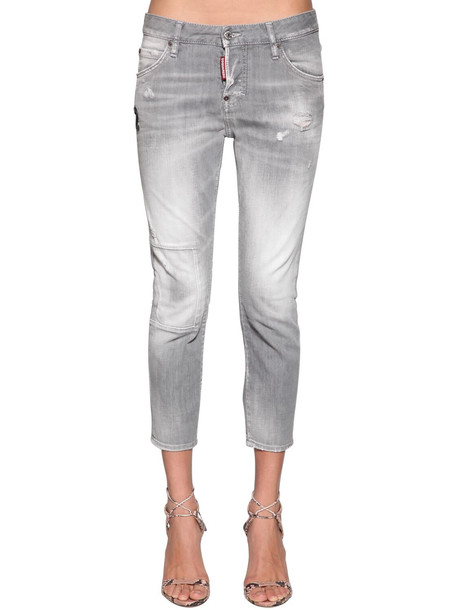 DSQUARED2 Cool Girl Cropped Denim Jeans in grey