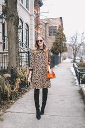 kelly in the city - a preppy chicago life,style and fashion blog,blogger,sweater,dress,shoes,bag,tights,sunglasses