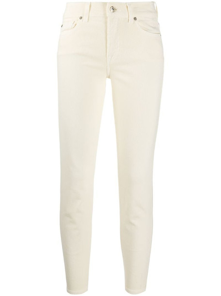 7 For All Mankind Roxanne mid-rise skinny jeans in neutrals