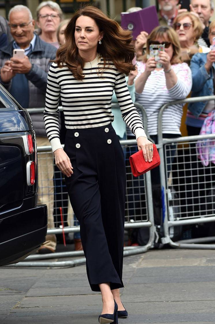 sweater stripes striped sweater celebrity spring outfits pants kate middleton