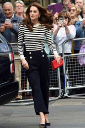 sweater,stripes,striped sweater,celebrity,spring outfits,pants,kate middleton