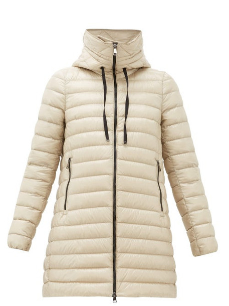 Moncler - Rubis Longline Hooded Down Filled Coat - Womens - Beige