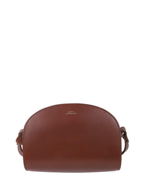 A.P.C. A.p.c. Brown Demi-lune Mini Bag