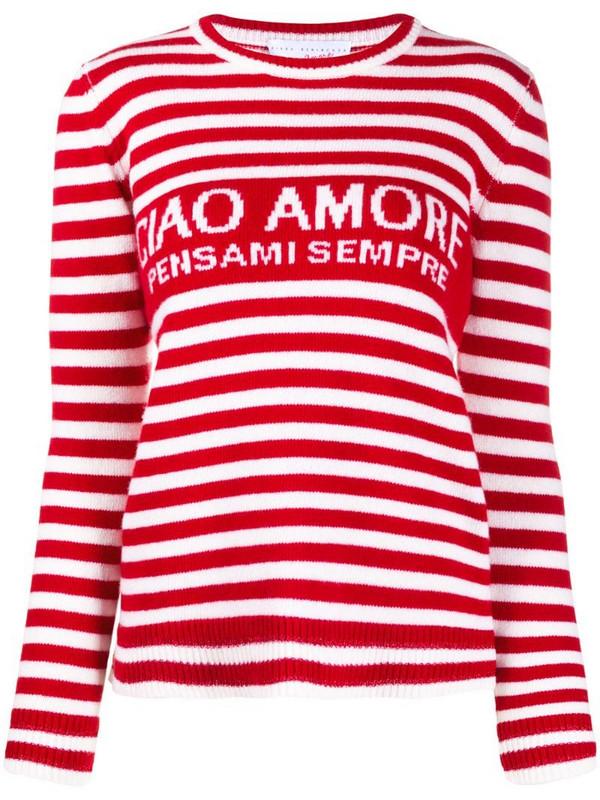 Giada Benincasa striped wool jumper in white