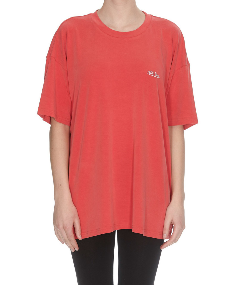 We11 Done Oversized T-shirt in red