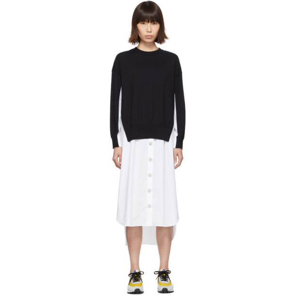 Enfold Navy Combination Dress