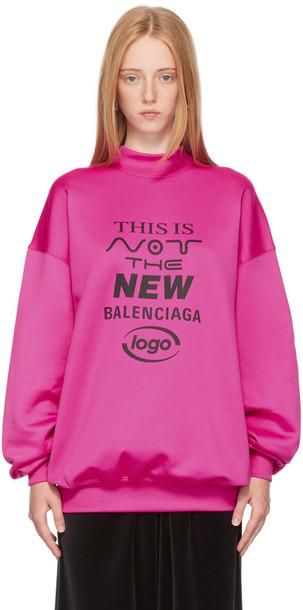 Balenciaga Pink 'This Is Not The New Logo' Sweatshirt