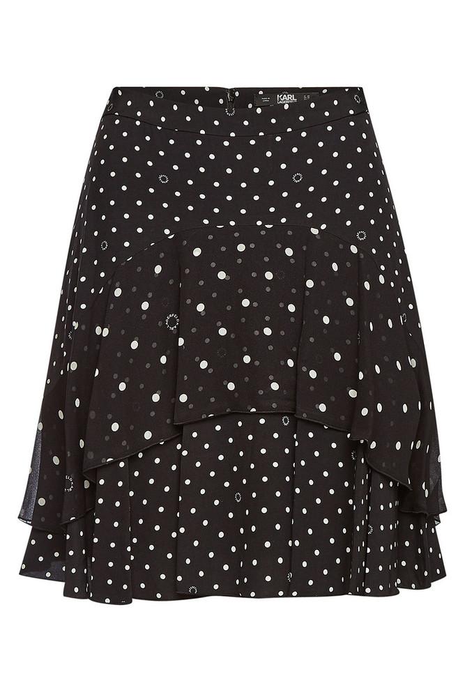 Karl Lagerfeld Polka Dot Skirt
