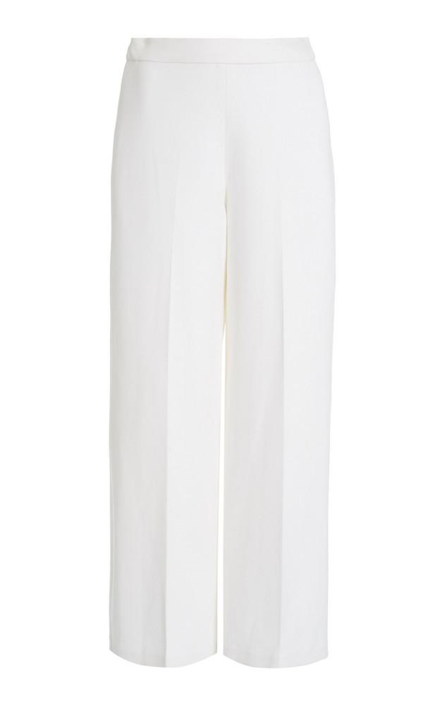 Rosetta Getty Crepe Straight-Leg Trousers in white
