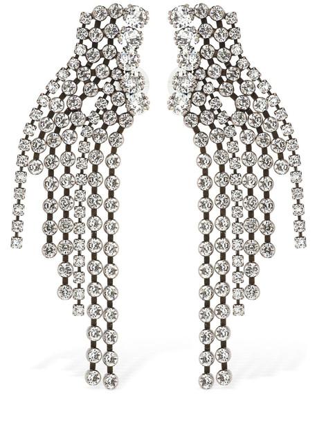 ISABEL MARANT A Wild Shore Crystal Earrings in silver