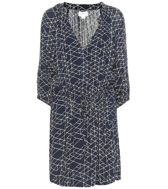 Velvet Morgan printed dress in blue