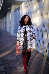 samieze,blogger,coat,skirt,shoes,bag