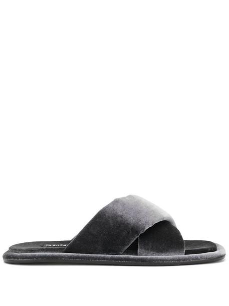 Senso Inka velvet sandals in grey