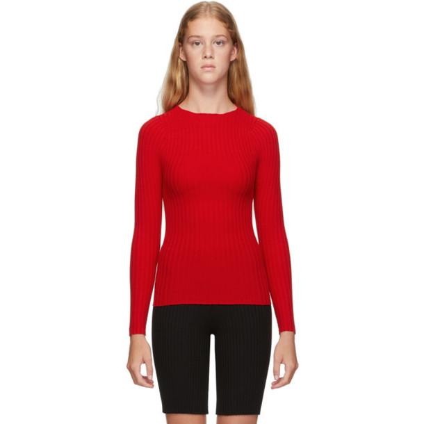 giu giu Red Nonna Jewel Sweater