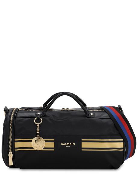 Puma X Balmain Barrel Bag in black