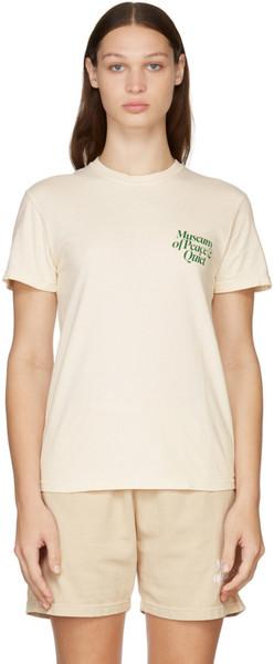 Museum of Peace & Quiet Beige Mid Century T-Shirt in cream