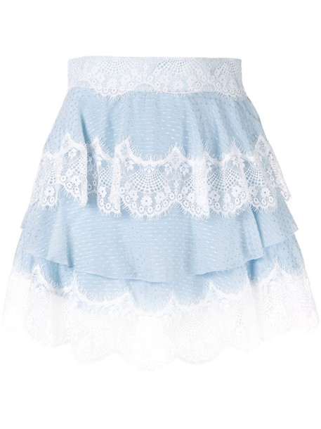 Alice McCall Divine Sister tiered lace skirt in blue