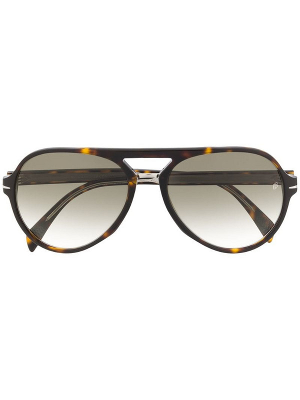 Eyewear by David Beckham round-frame sunglasses in brown