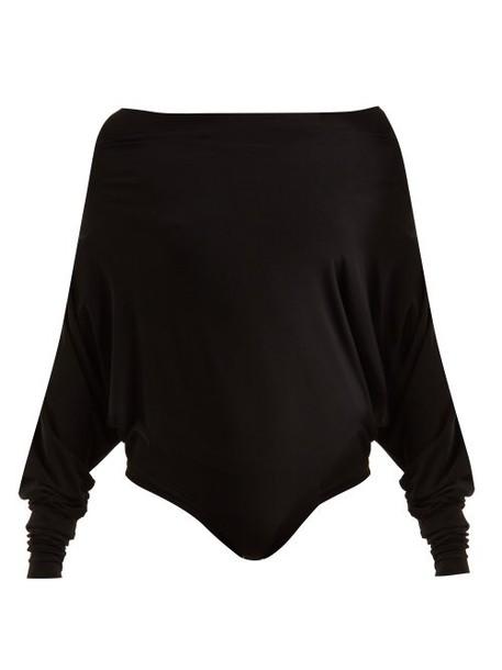 Norma Kamali - Off The Shoulder Bodysuit - Womens - Black