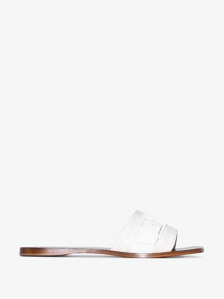 Bottega Veneta Intrecciato sandals in white