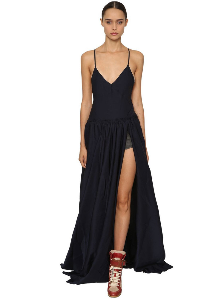 ZADIG & VOLTAIRE Backless Light Cady Long Dress in blue