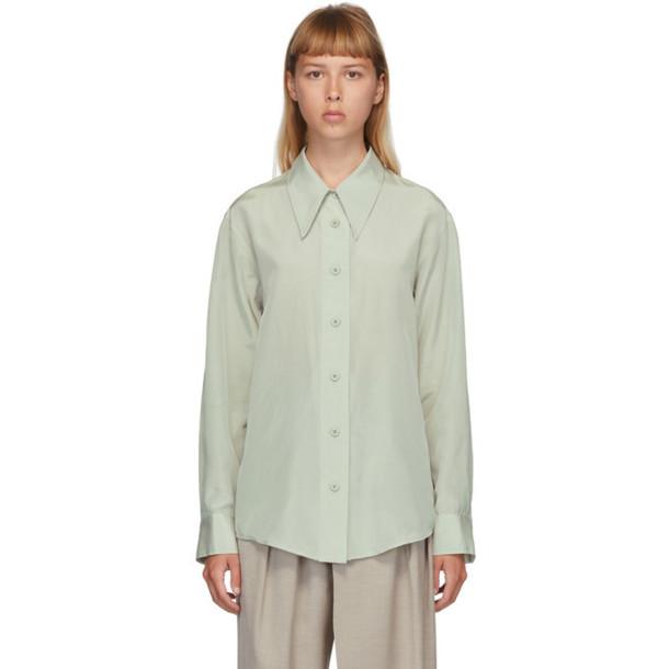 Low Classic Green Silk Shirt in mint