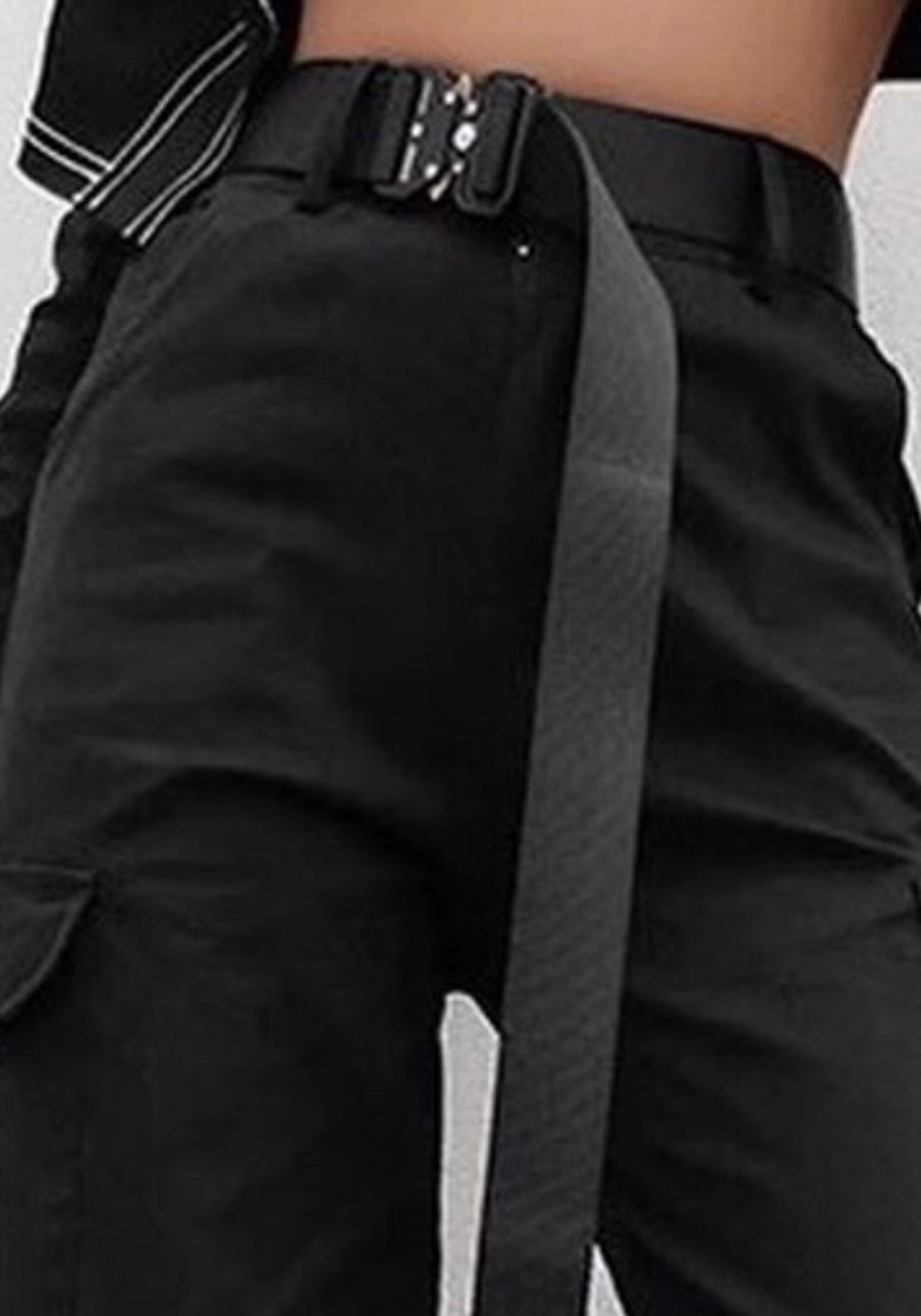 belt black metal belt