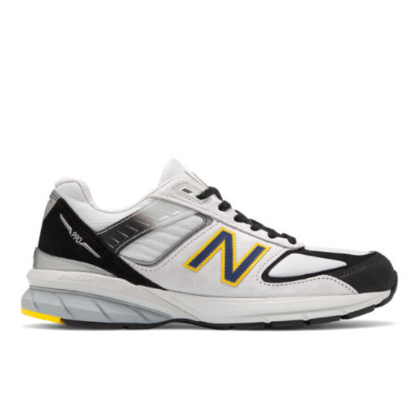 New Balance Made in US 990v5 Men's Made in USA Shoes - Silver/Black (M990SB5)