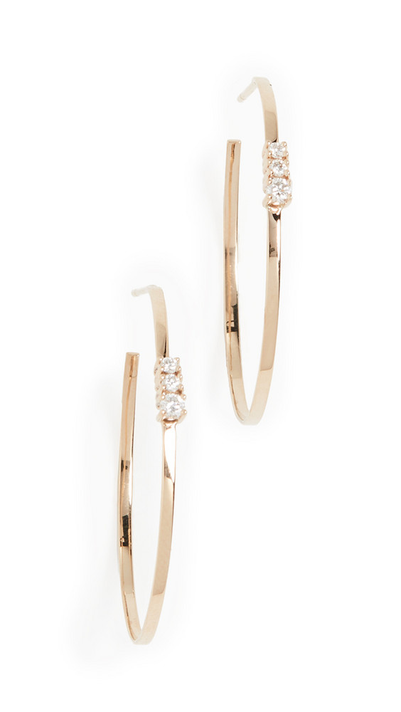 LANA JEWELRY 14k Flat Magic Hoop Earrings in gold / yellow