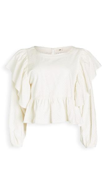 Warm Pixie Blouse in white