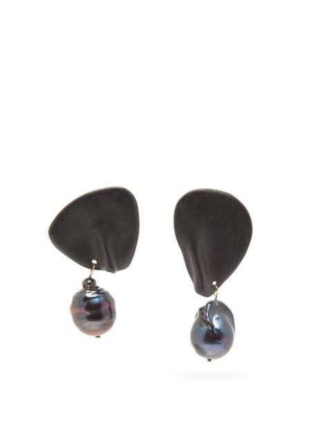 Completedworks - Table Talk Pearl & 14kt Gold-vermeil Earrings - Womens - Black