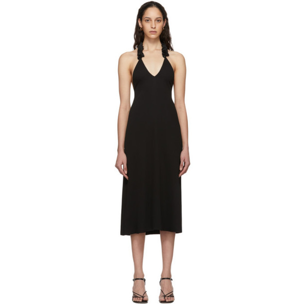 Christopher Esber Black Coiled Lei Cami Dress