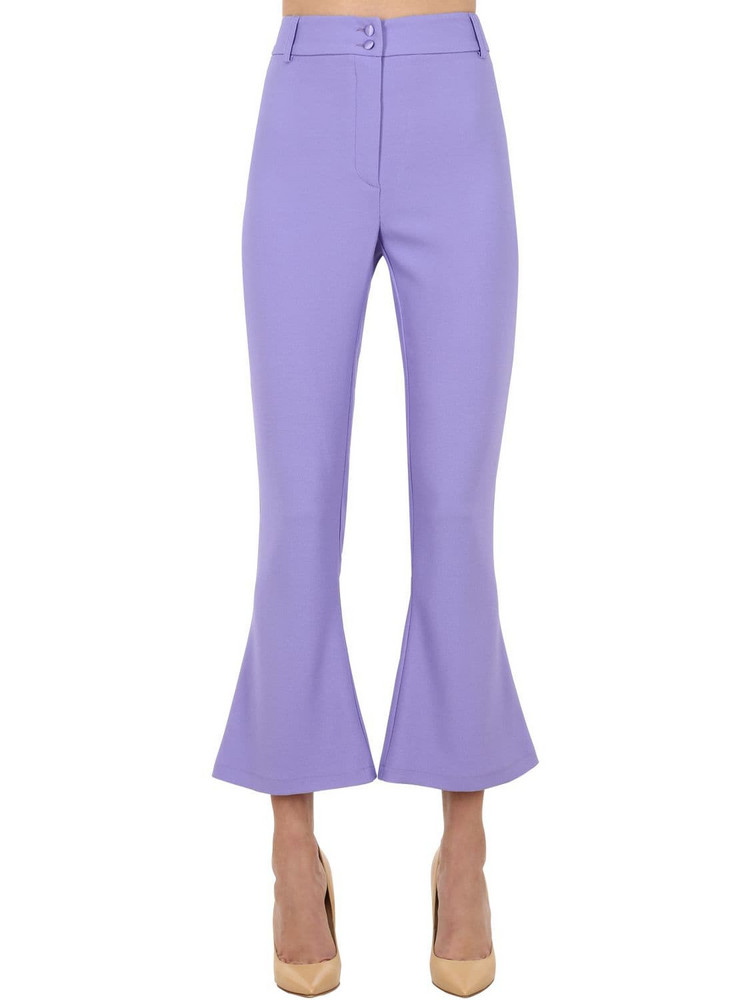 HEBE STUDIO Charlie Viscose Cady Flared Pants in lilac