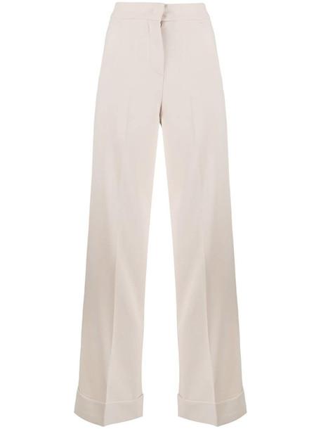 Blanca Vita high-waist trousers in neutrals