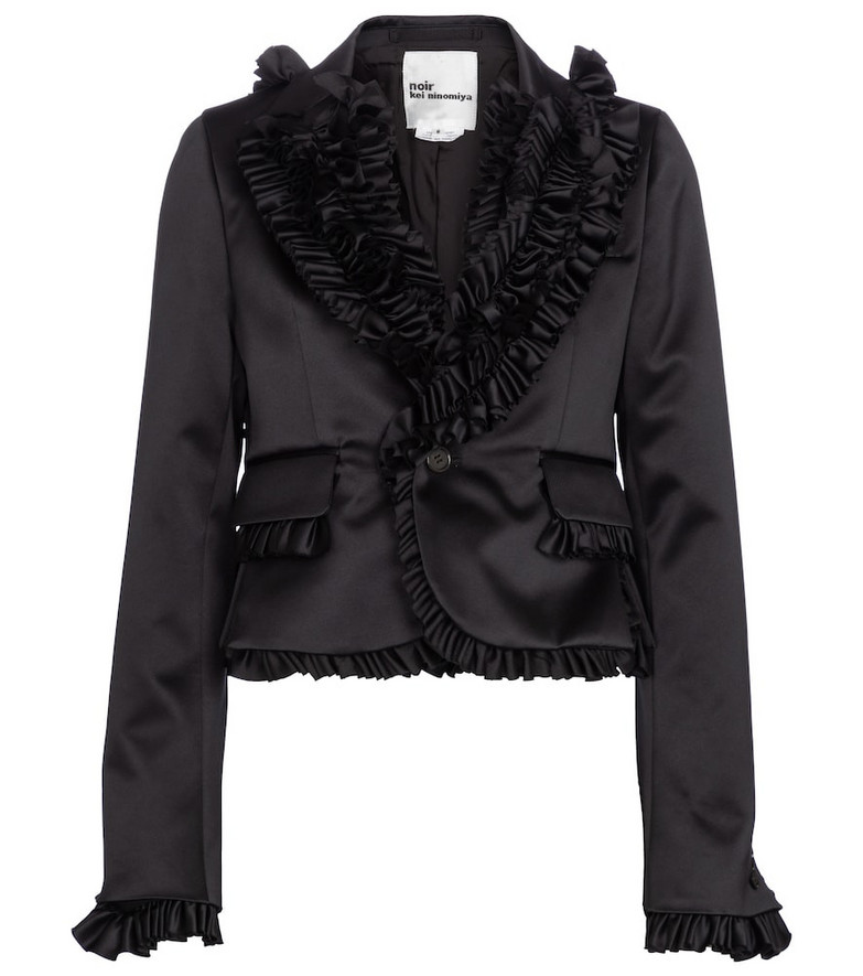 Noir Kei Ninomiya Ruffle-trimmed blazer in black