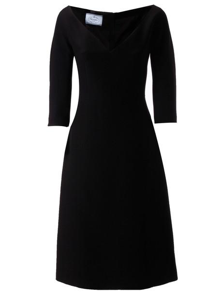 Prada Cady Dress in nero