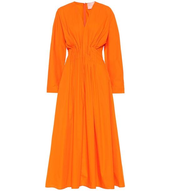 Roksanda Marola cotton maxi dress in orange