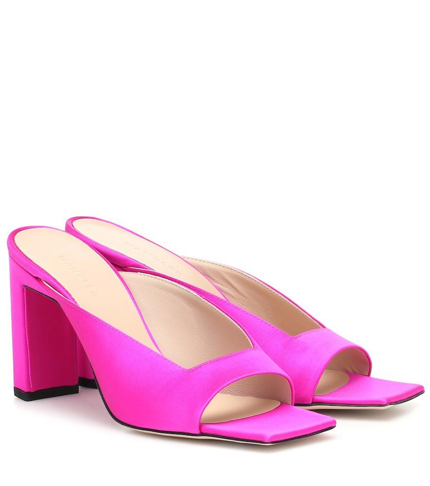Wandler Isa satin sandals in pink