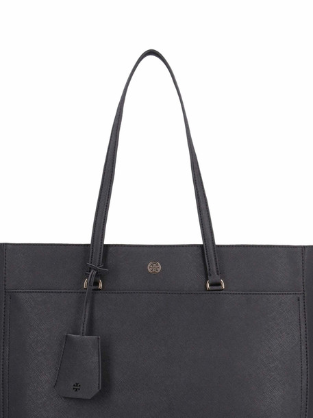 Tory Burch Robinson Leather Tote Bag in black