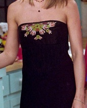 dress,friends TV show,rachel green,jennifer aniston,strapless,little black dress,jennifer aniston rachel  friends