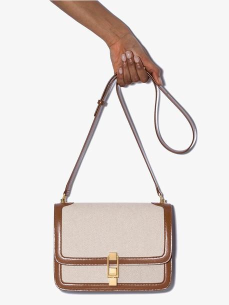 Saint Laurent brown Carre leather shoulder bag
