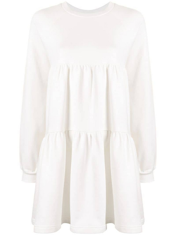 Cynthia Rowley Vail Cozy gathered swing dress in white