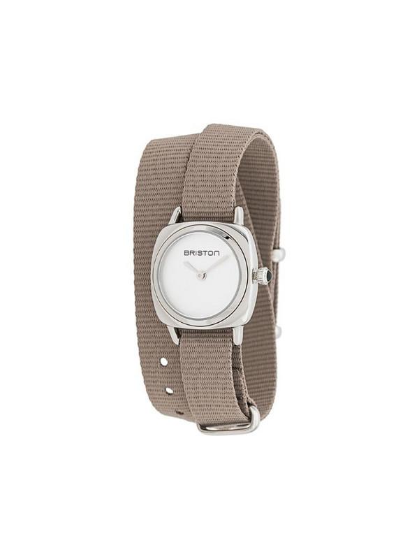 Briston Watches Clubmaster wrap watch in grey