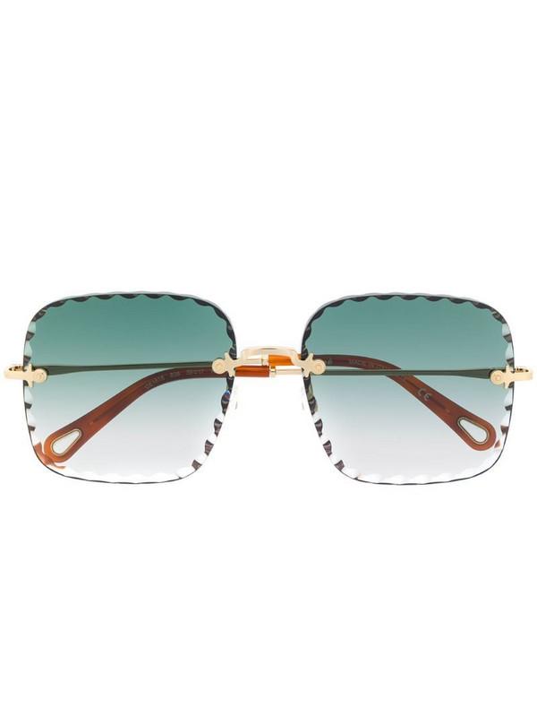Chloé Eyewear Rosie square-frame sunglasses in gold