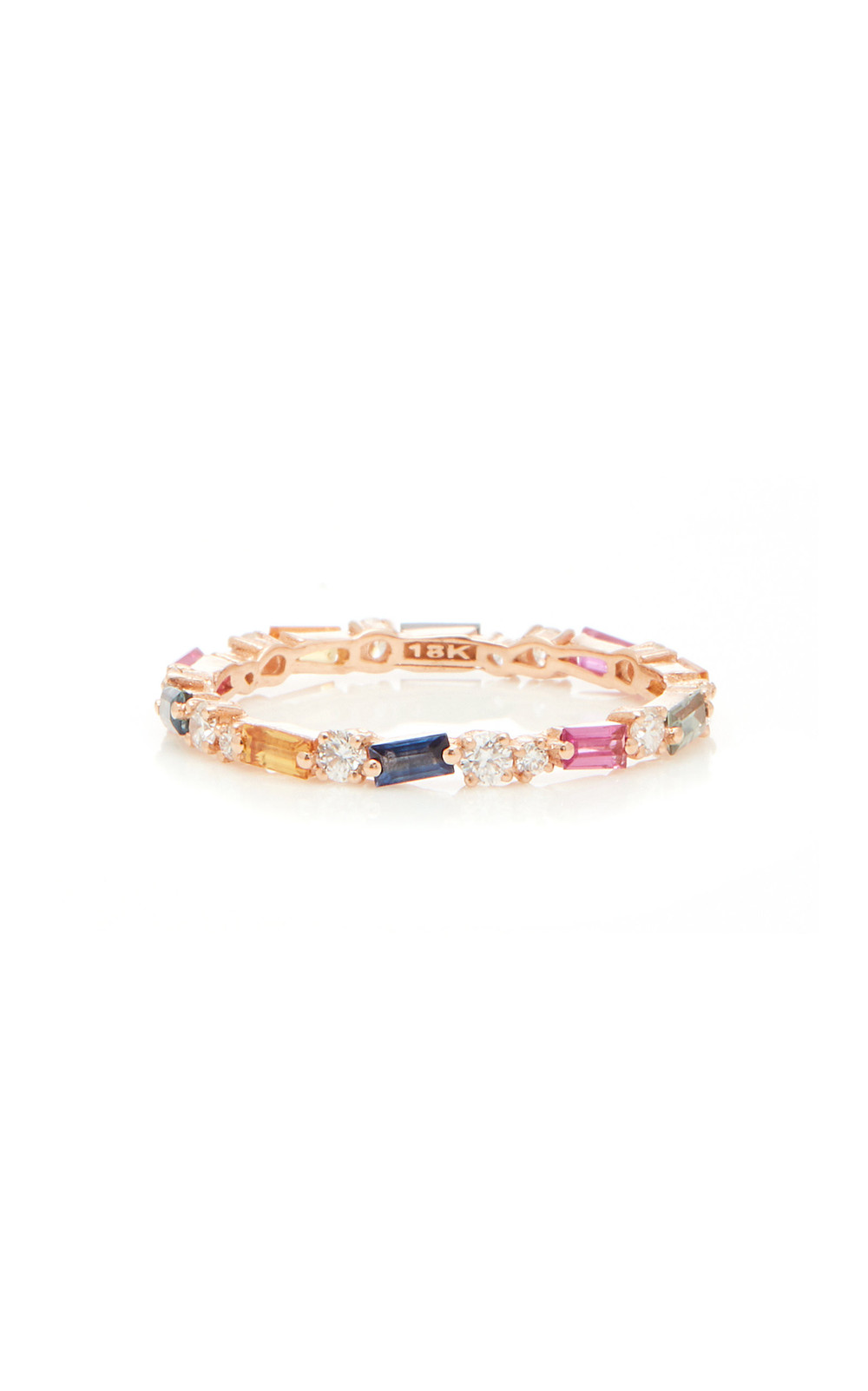 Suzanne Kalan 18K Rose Gold Sapphire and Diamond Ring in multi