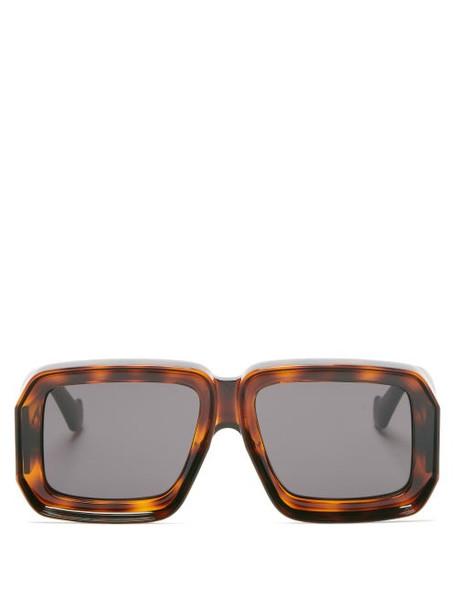 Loewe Paula's Ibiza - Oversized Square Tortoiseshell-acetate Sunglasses - Womens - Tortoiseshell