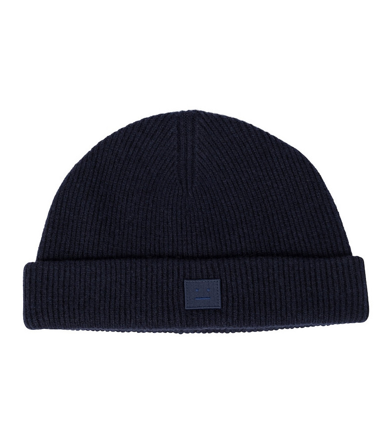 Acne Studios Ribbed-knit wool beanie in blue