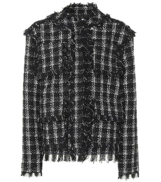 MSGM Tweed jacket in black